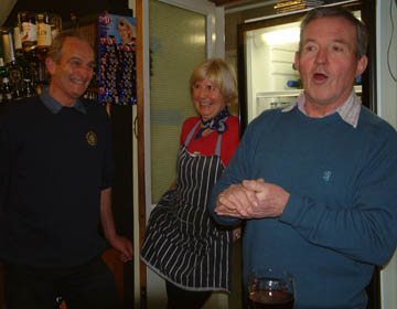 Geoff and Jane with Roger Catherall